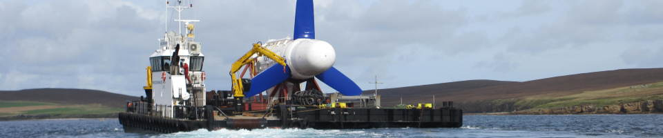 Transportation of Voith turbine to EMEC tidal test site (Credit Voith) IMG 2280