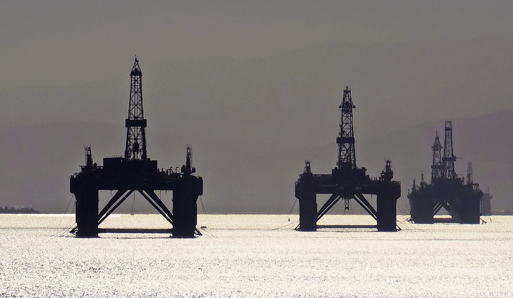 Oil rigs near Inverness