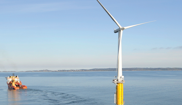 Floating wind turbine deployment